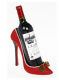 Christmas Red Sparkly Shoe Wine Bottle Holder Great Wine Lovers Gift